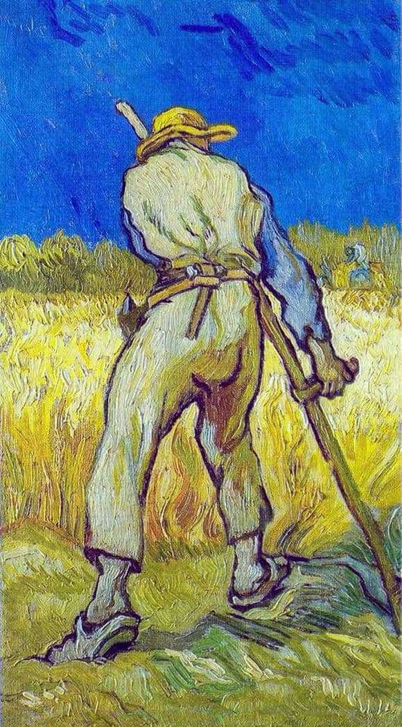 Description of the painting by Vincent Van Gogh Reaper