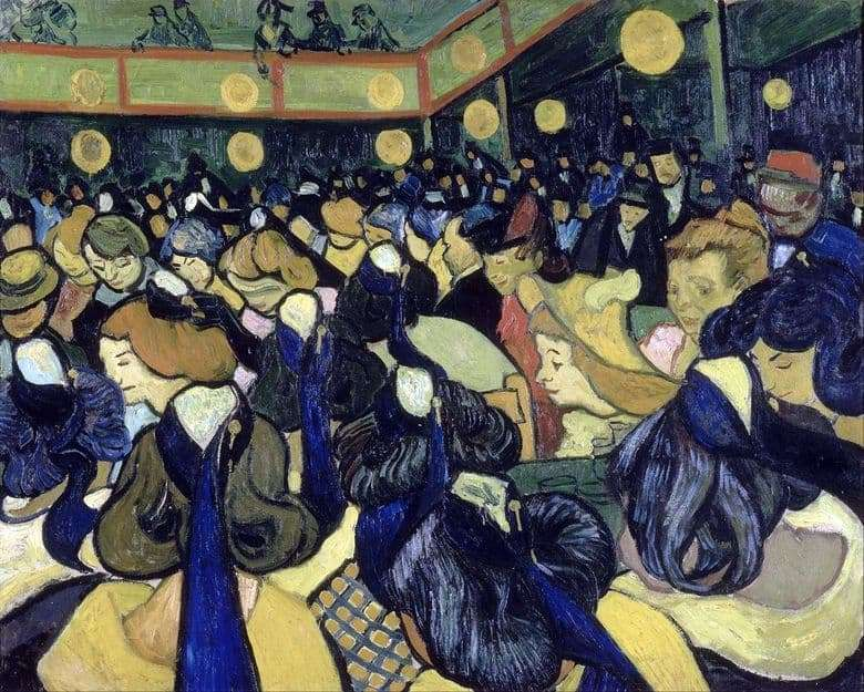 Description of the painting by Vincent Van Gogh Dance Hall