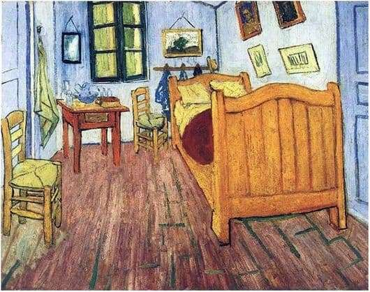 Description of the painting by Vincent van Gogh Bedroom in Arles