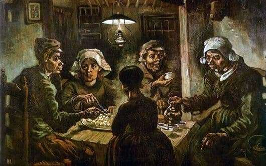 Description of the painting by Vincent van Gogh Potato Eaters