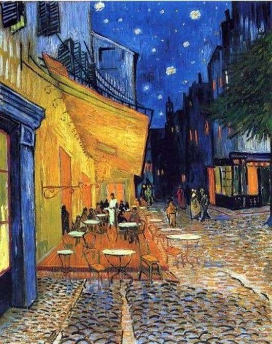 Description of the painting by Vincent van Gogh Cafe Terrace