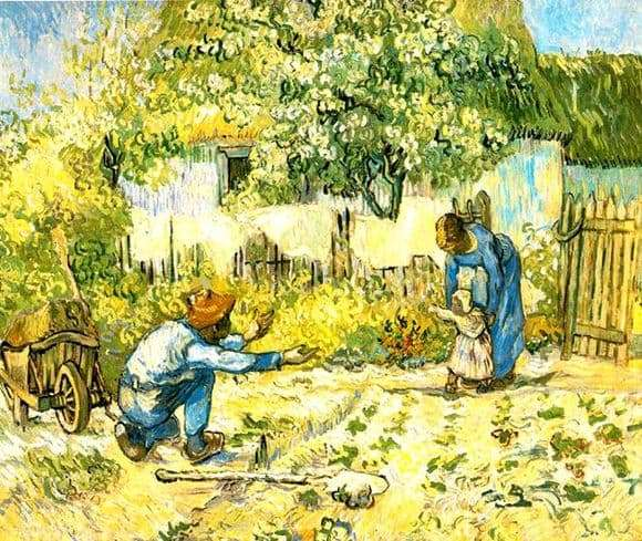 Description of the painting by Vincent Van Gogh First steps