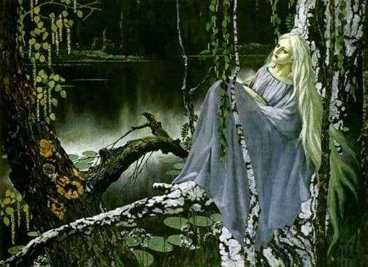 Description of the painting by Konstantin Vasilyev Mermaid