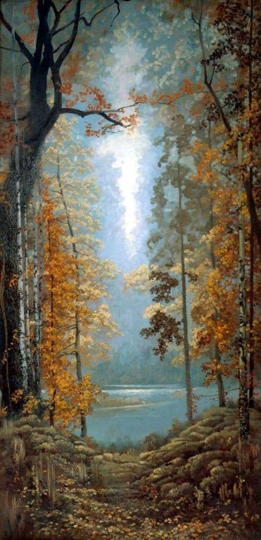 Description of the painting by Konstantin Vasiliev Autumn