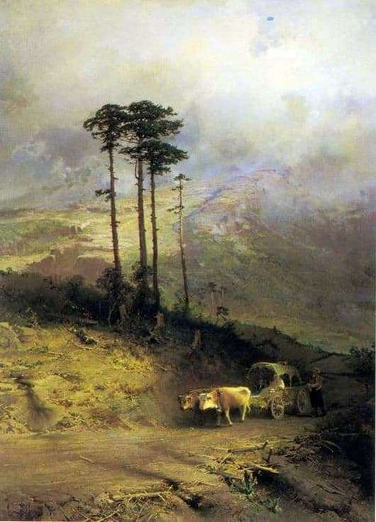 Description of the painting by Fyodor Vasilyev In the Crimean Mountains