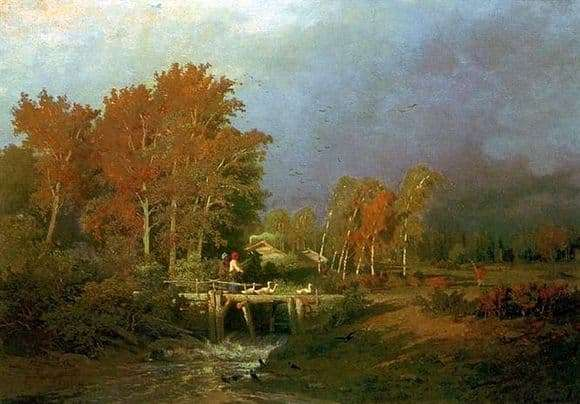 Description of the painting by Fedor Vasiliev Before the rain