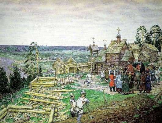 Description of the painting by Victor Vasnetsov The Foundation of Moscow