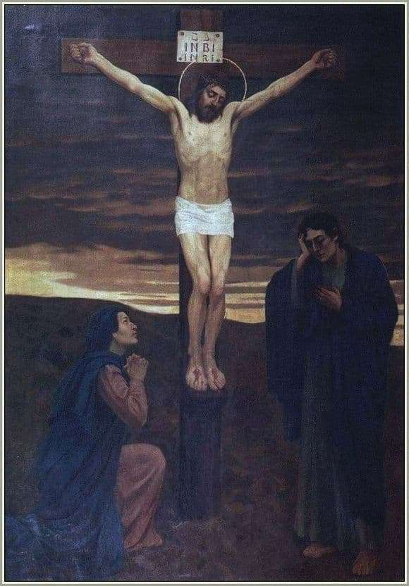 Description of the painting by Victor Vasnetsov Crucifixion of Christ