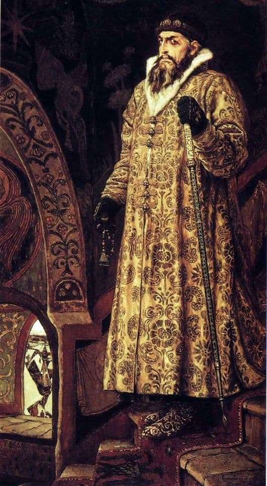 Description of the painting by Viktor Vasnetsov Tsar Ivan Vasilyevich the Terrible