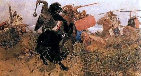 Description of the painting by Viktor Vasnetsov The Battle of the Scythians with the Slavs