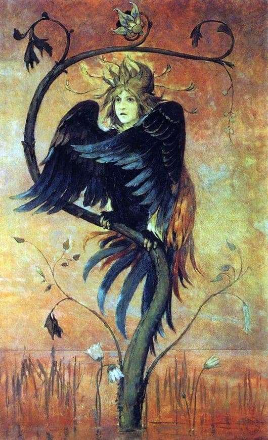Description of the painting by Victor Vasnetsov Gamayun, a bird of war