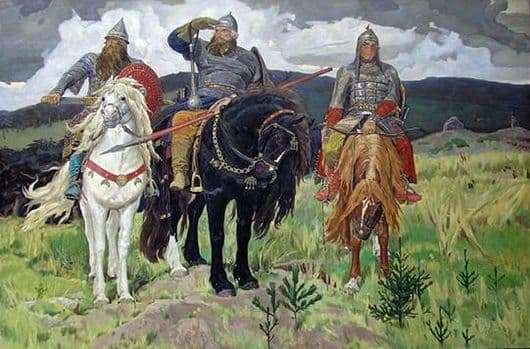 Description of the painting by Victor Vasnetsov Three heroes