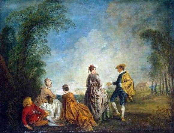 Description of the painting by Antoine Vatto Embarrassing Offer