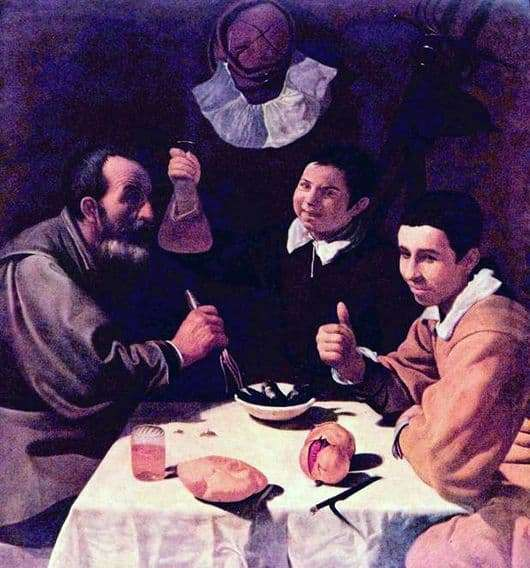 Description of the painting by Diego Velázquez Breakfast