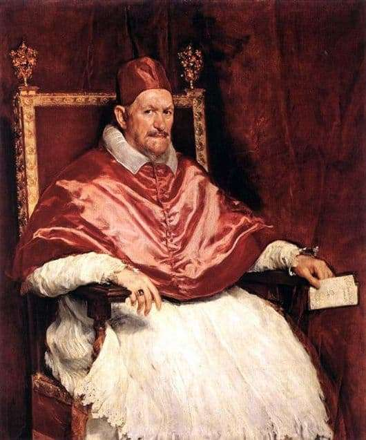 Description of the painting by Diego Velázquez Papa Innocent