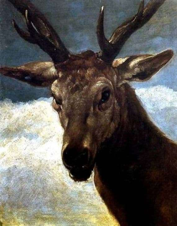 Description of the painting by Diego Velázquez The head of a deer