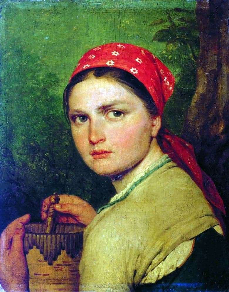 Description of the painting by Alexey Venetsianov Girl with beetroot