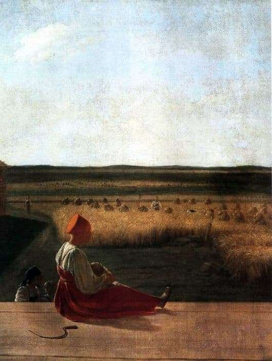 Description of the painting by Alexei Venetsianov On the harvest