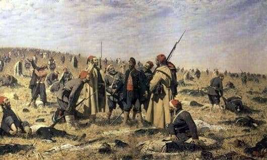 Description of the painting by Vasily Vereshchagin Winners
