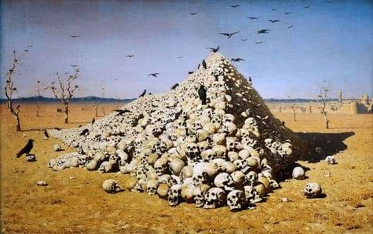 Description of the painting by Vasily Vereshchagin The Apotheosis of War