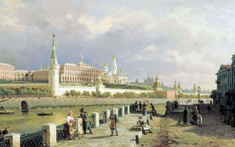 Description of the painting by Peter Vereshchagin View of the Moscow Kremlin