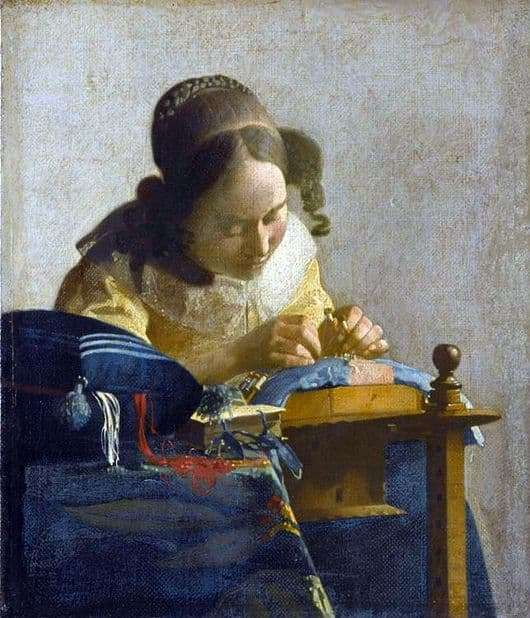 Description of the painting by Jan Vermeer The Lacemaker