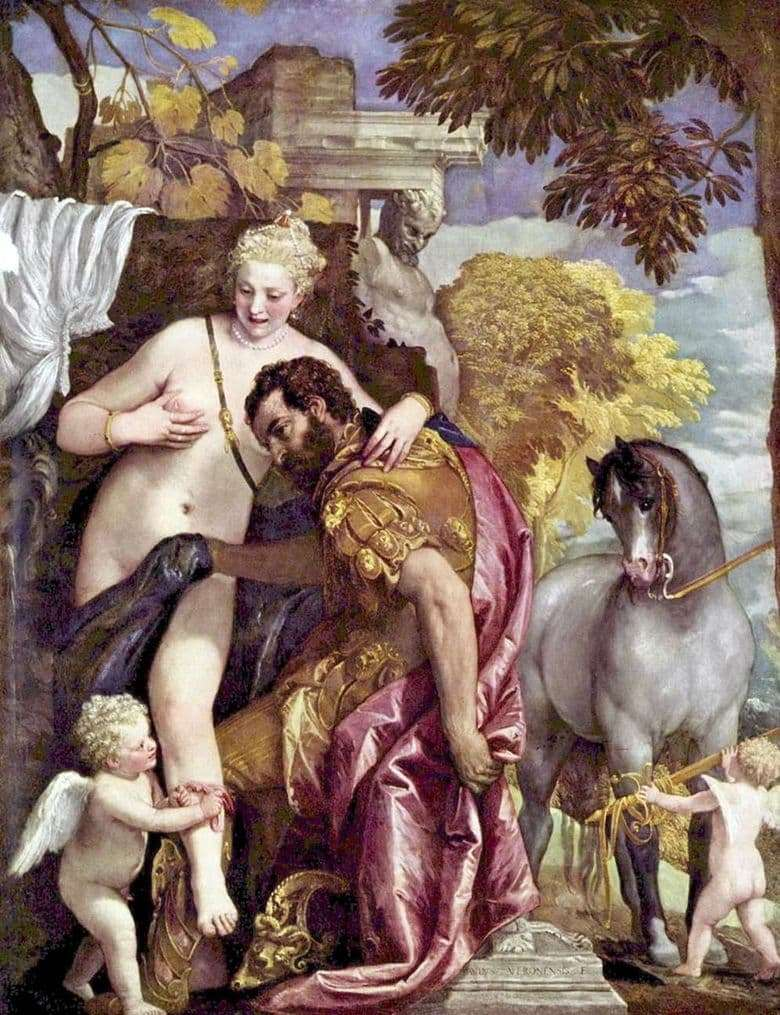 Description of the painting by Paolo Veronese Mars and Venus