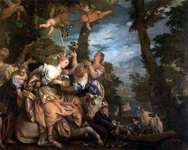 Description of the painting by Paolo Veronese The abduction of Europe