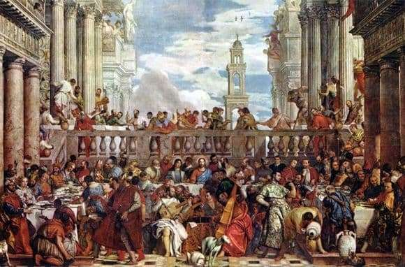 Description of the painting by Paolo Veronese Marriage in Cana of Galilee