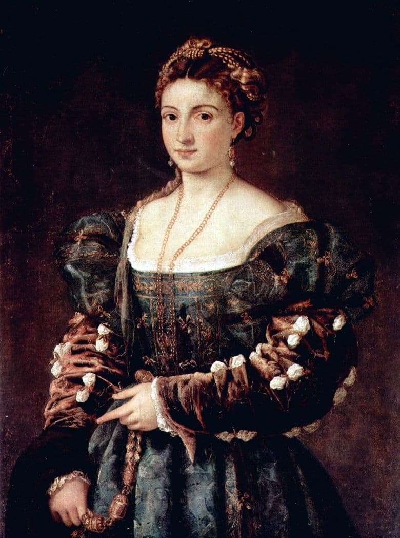 Description of the painting by Titian Vecellio Beauty