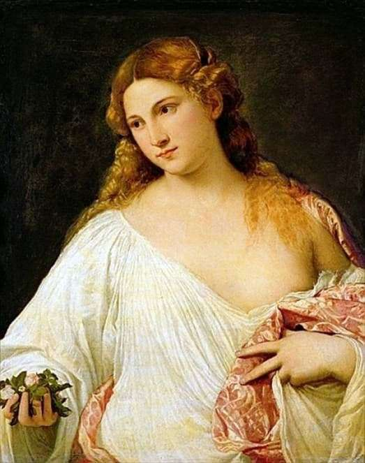 Description of the painting by Titian Vechelio Flora