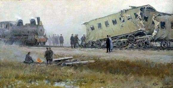 Description of the painting by Ivan Vladimirov Catastrophe