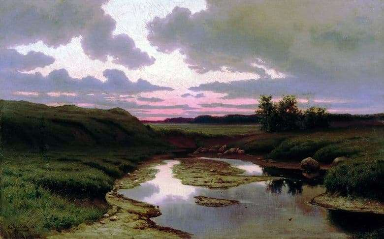 Description of the painting by Efim Volkov Twilight