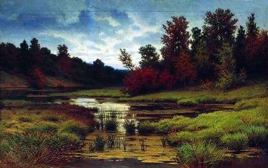 Description of the painting by Efim Volkov Autumn
