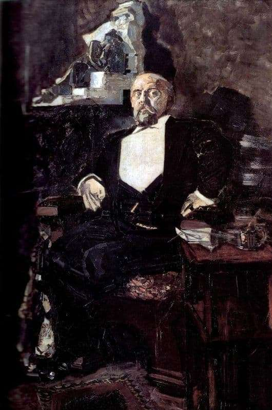 Description of the painting by Mikhail Alexandrovich Vrubel Portrait of S. I. Mamontov