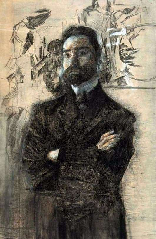 Description of the painting by Mikhail Vrubel Portrait of Valery Bryusov