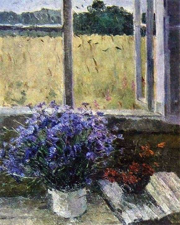 Description of the painting by Vladimir Gavrilov Last cornflowers