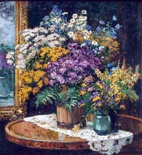 Description of the painting by Alexander Gerasimov Wildflowers