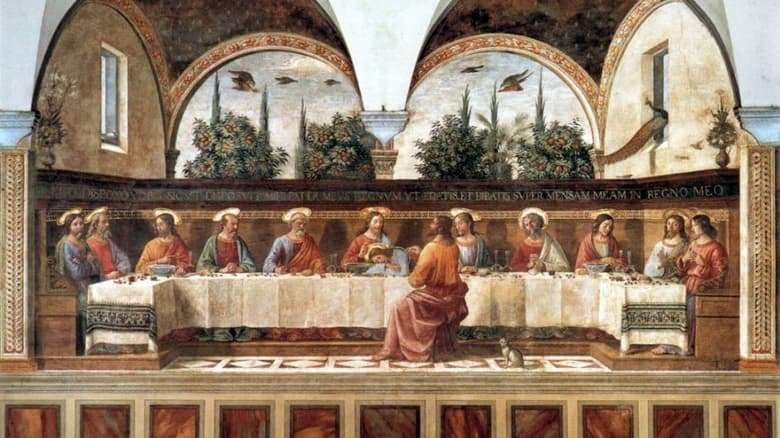 Description of the fresco by Domenico Ghirlandaio The Last Vessel