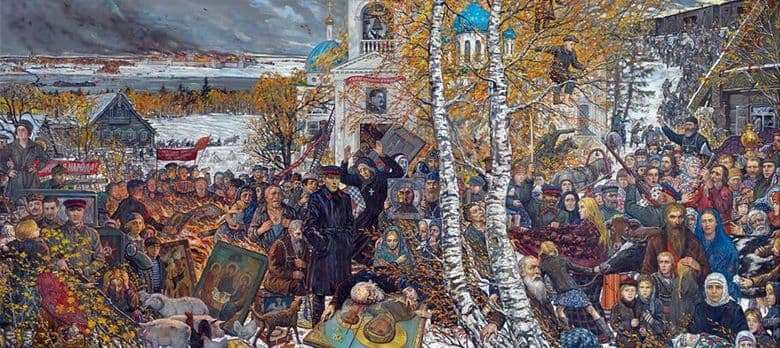 Description of the painting by Ilya Glazunov Discretion