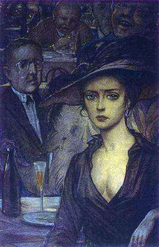 Description of the painting by Ilya Glazunov Stranger