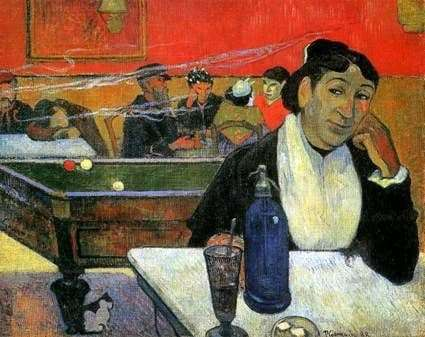 Description of the painting by Paul Gauguin Night cafe in Arles