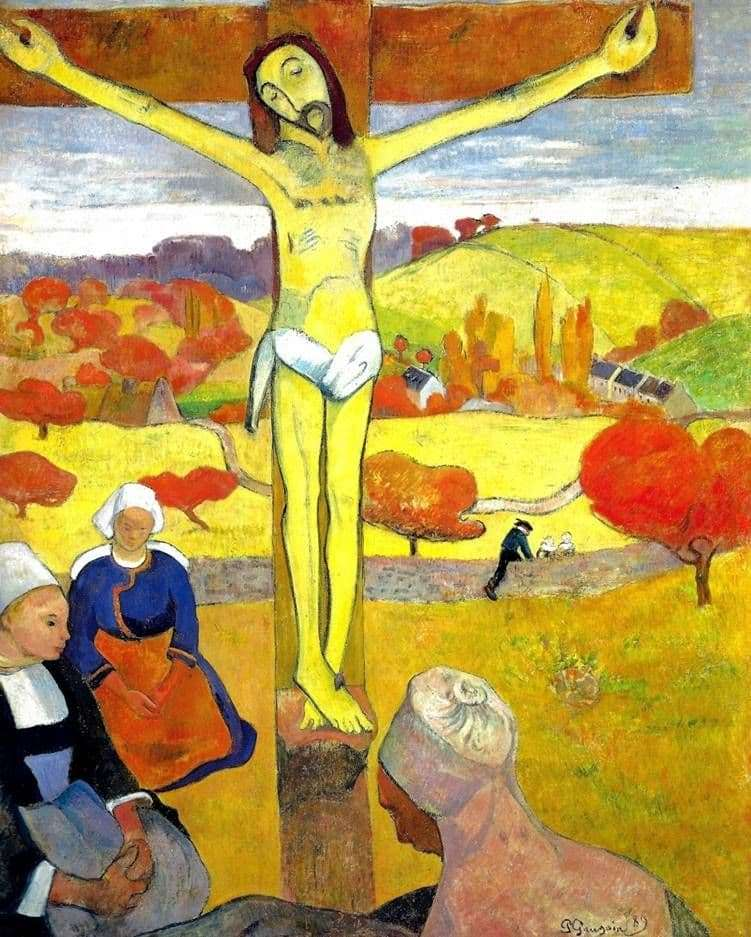 Description of the painting by Paul Gauguin Yellow Christ