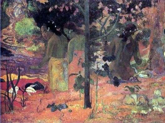 Description of the painting by Paul Gauguin Bathers