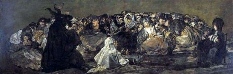 Description of the painting by Francisco de Goya Witches Sabbath