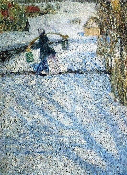 Description of the painting by Igor Grabar March snow (March)