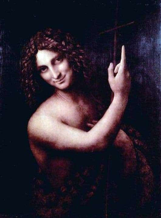 Description of the painting by Leonardo da Vinci John the Baptist