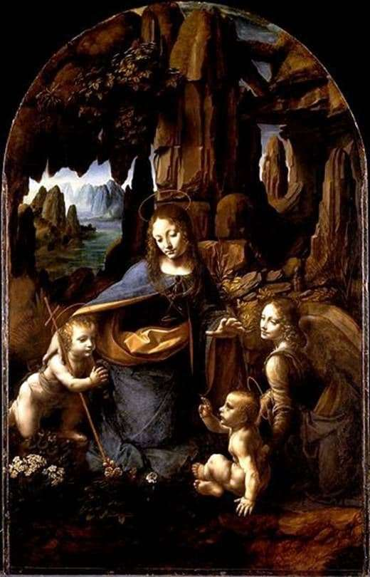 Description of the painting by Leonardo da Vinci Madonna in the grotto (Madonna in the rocks)