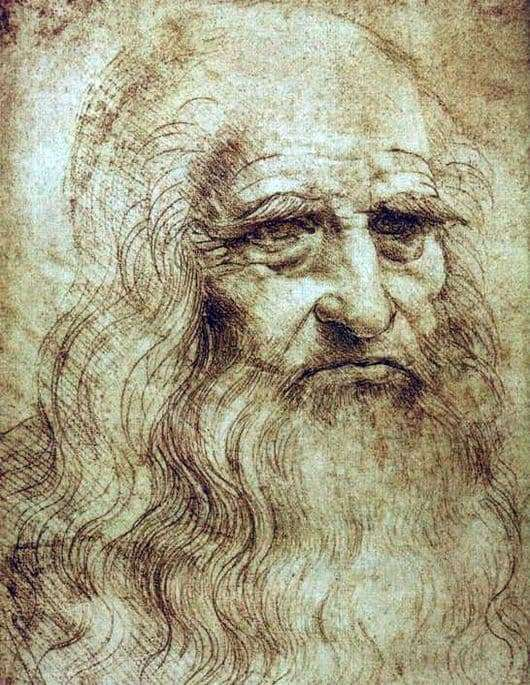 Description of the painting by Leonardo da Vinci Self portrait