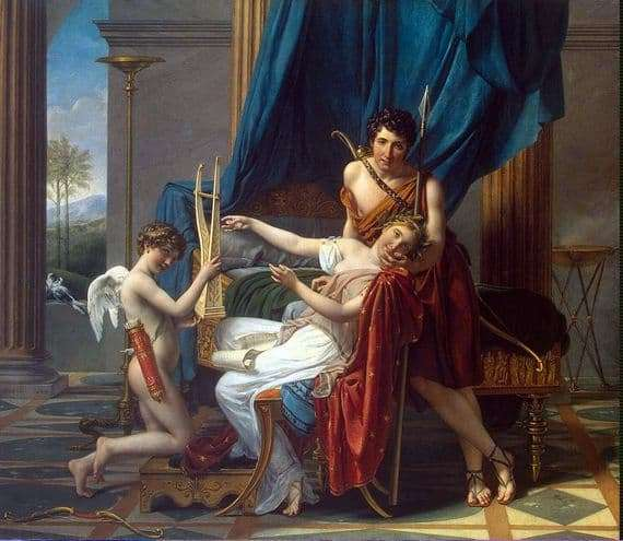 Description of the painting by Jacques Louis David Sappho and Phaon